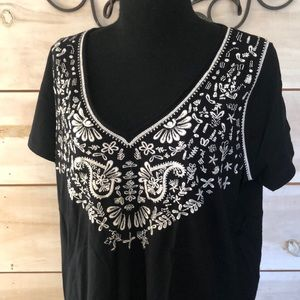 Philosophy embroidered top